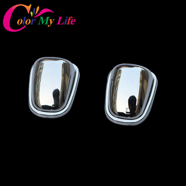 Color My Life ABS Chrome Sprinkler Head Water Spray Nozzle Wiper Water-jet Cover Trim Sticker for Jeep Compass 2017 Accessories
