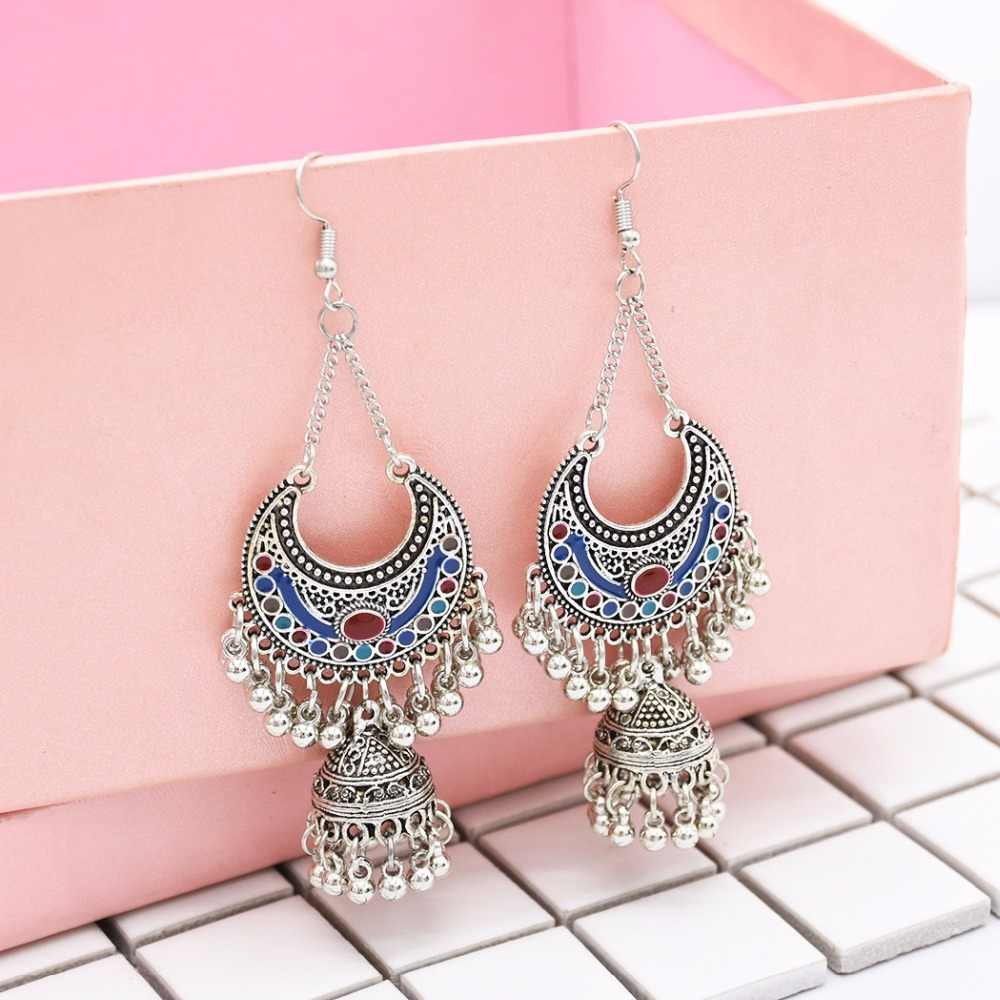 3258addf2 Detail Feedback Questions about India Middle East Gypsy Jewelry Handmade  Ancient Silver Retro Tribal Earrings Hippie Boho Afghan Thailand Nepal  jhumka ...
