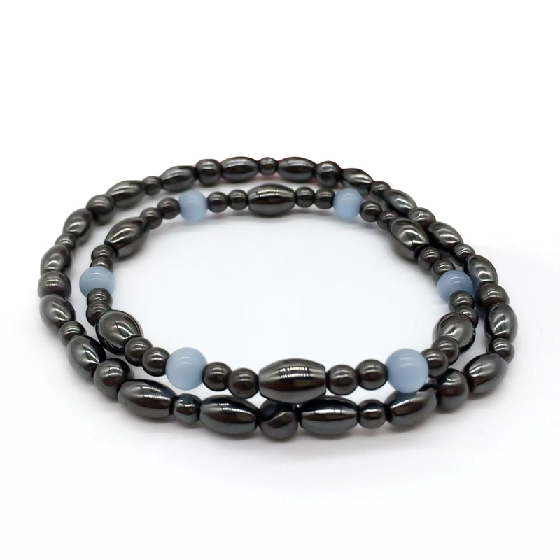 Biomagnetism Nature Magnetic Bracelet Handmade Beads Natural Stone Health Care Weight Loss Bracelet Wristband DIY Jewerly