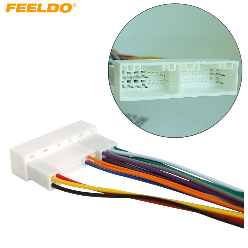 FEELDO 5Pcs/Pack Suit Car Audio Stereo Wiring Harness Adapter Plug ...