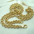 n297-Fashion Men Women18K Gold Filled 60cm L Charm Chain Necklace Jewelry Gift