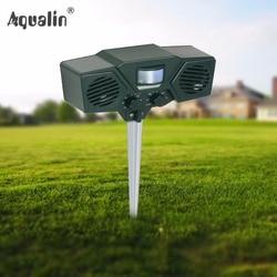 Eco-friendly Dog, Cat Repellent Dual Speaker Ultrasonic Repeller Animal Pest Control for Home,Garden,Lawn #32019