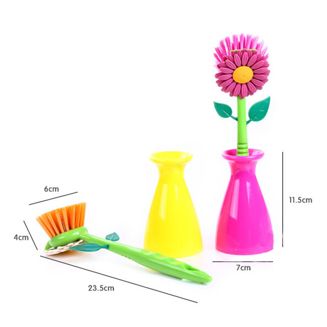 aliexpresscom buy 2016 hot sun flower kitchen cleaning brush pan pot brush 1 pcs multi bathroom plastic brush cleaning tool free shipping q 286 from - Multi Bathroom 2016