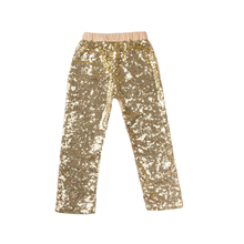 Baby Girl Sequin Pants Baby Girls Bling Gold Casual Pants Sequined Loose Full Length Pants Kids Tousers Free Shipping KP-SEQP04