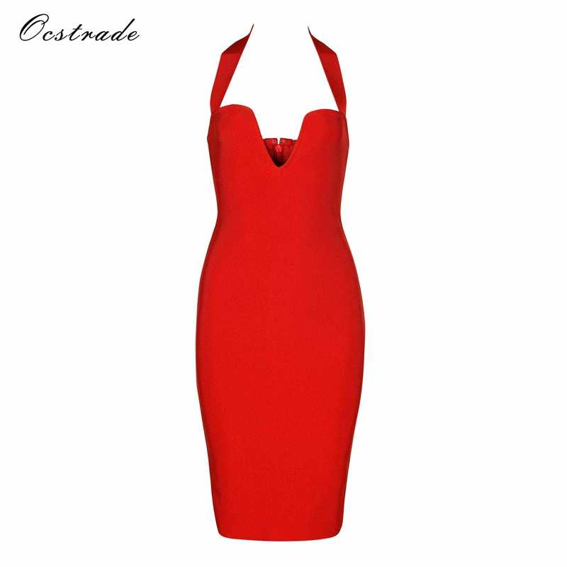 4588ac07c2 Ocstrade Sexy Red Bandage Dresses for 2018 New Years Eve Fashion ...