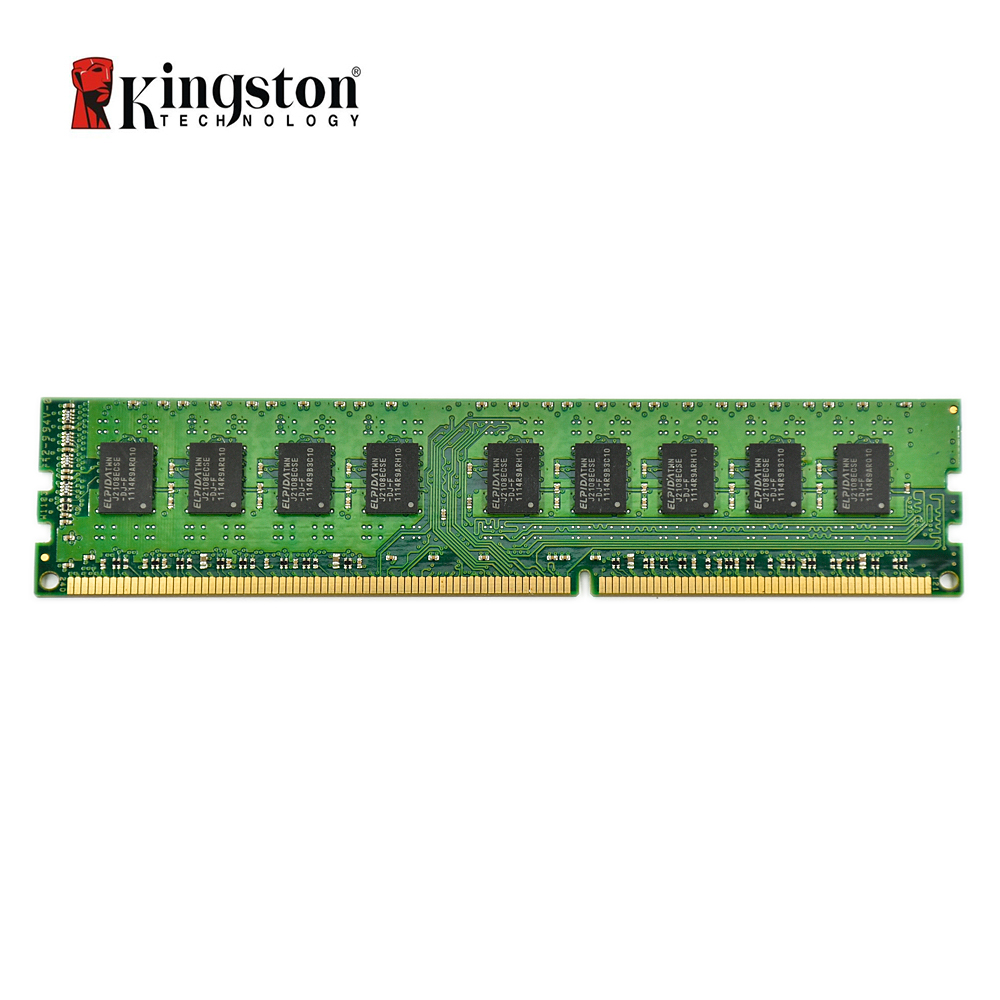Kingston ECC Memory RAM DDR3 4G 1333MHZ CL9 240pin 1.5V PC3 10600U Working On Workstation And Servers