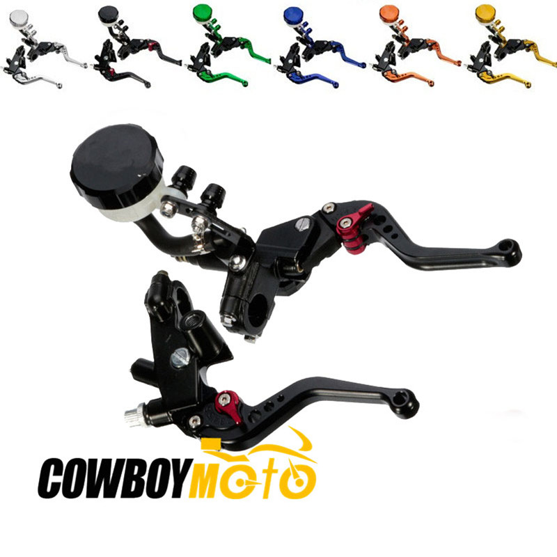 Motorcycle 7/8 22mm Hydraulic Clutch Brake Master Cylinder Kit Reservoir Levers For Ducati Yamaha Suzuki Kawasaki 125CC-400CC motorcycle hydraulic brake clutch master cylinder reservoir levers 125cc 600cc for kawasaki zrx1100 zrx1200 zg1000 1992 2006