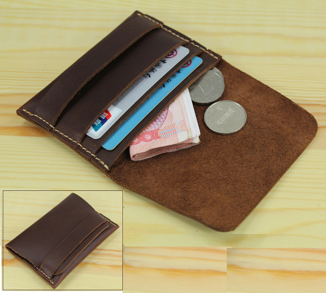 Handmade Genuine Leather wallet women purse wallet men wallet small coin purse coin holder money bag pouch credit card holder