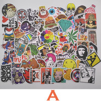 7 Combinations 100pcs Pack DIY Waterproof Funny Laptop Car Stickers For Trunk Skateboard Guitar Fridge Decal