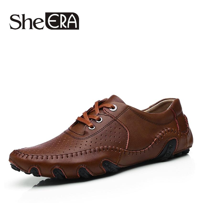 Dizajn i ri 2017 Vjeshtë Vjeshtë Këpucë të Sheshta Këpucë të buta Split Lëkurë Këpucë Mashkull Leshi këpucë Rastesishme për Burra Sapatos Homens