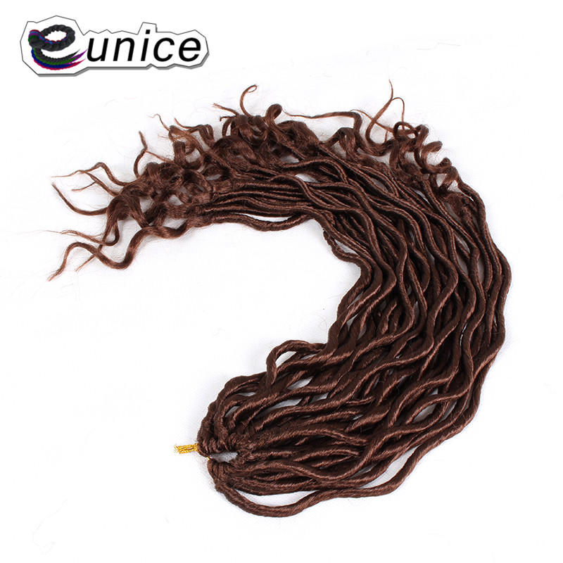 Faux Locs Curly Heat Resistant Synthetic Hair Extensions (28)