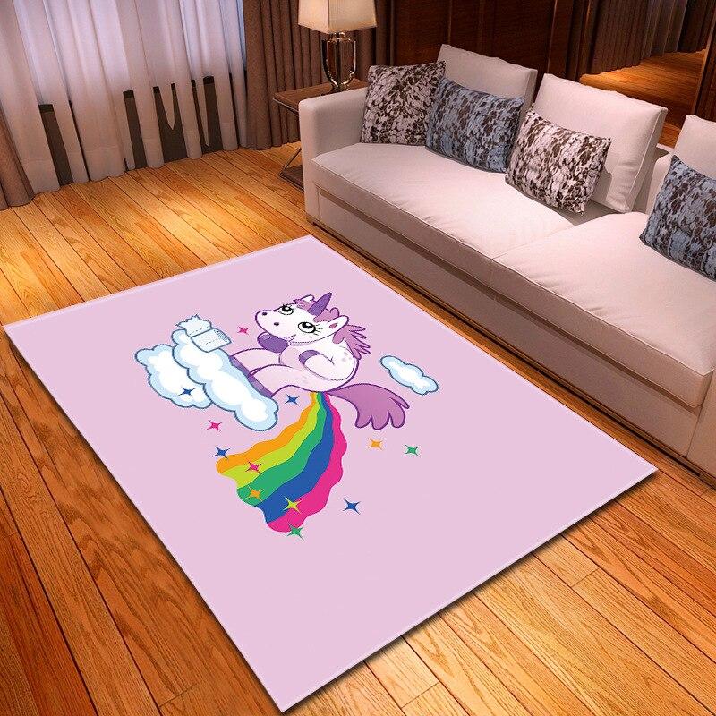 Bande dessinée 3D imprimé tapis couloir paillasson enfants jouer ramper tapis cuisine salle de bains antidérapant tapis enfant doux tapis pour salon