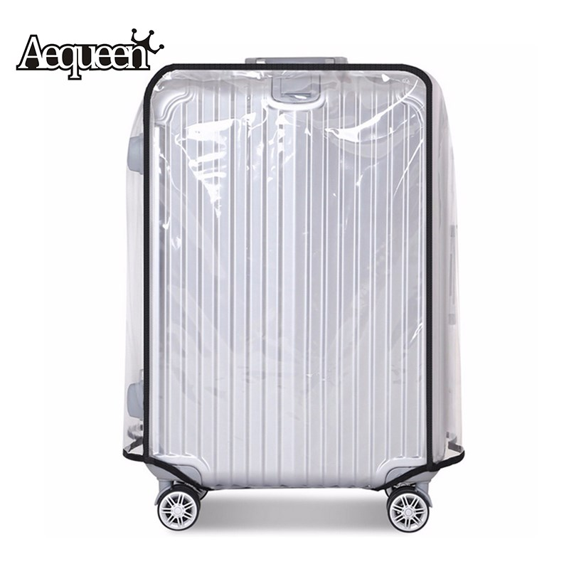 AEQUEEN PVC Transparent Waterproof Trolley Suitcase Dust Bags Luggage Protective Cover Travel Case Accessories Apply To 20