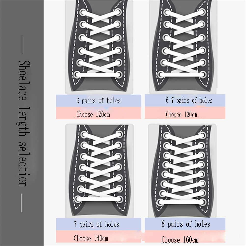 1 Pasang 120/130/140/160 Cm Tali Sepatu Merah Muda Olahraga Perjalanan Tali Sepatu Klasik Warna Jelly Datar Polyester sepatu Anak Perempuan Biru Tali Sepatu