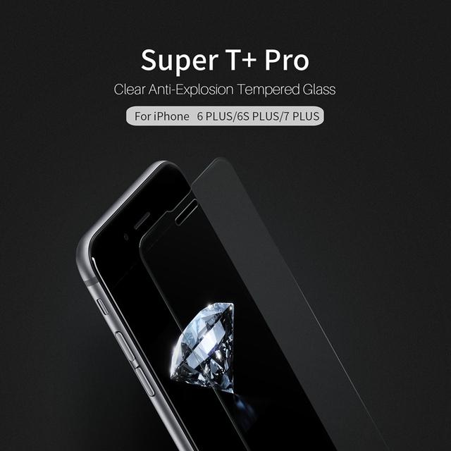 Nillkin súper t + pro claro anti-explosión de cristal templado para iphone 7 más 6 Más 6 s Más 0.15mm de Espesor Ultra Delgado Ultra suave