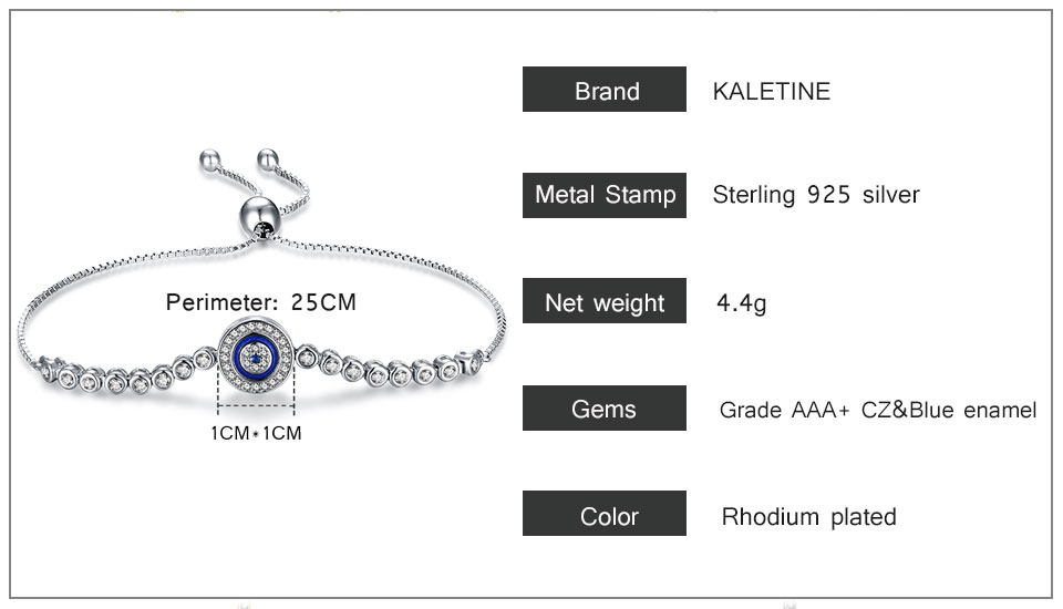 HTB1Pr95v41YBuNjy1zcq6zNcXXaH - Luxury Brand Evil Eye Tennis Bracelet Hip Hop 925 Sterling Silver Bracelets for Women Blue Stone Beads Bracelet Mens Jewellery