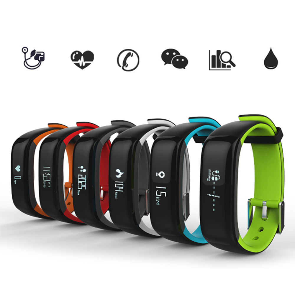 High quality P1 smart band Blood Pressure Heart Rate Monitor Smart Bracelet Waterproof Bluetooth Smartband For