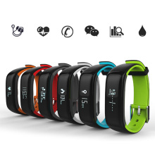 High quality P1 smart band Blood Pressure Heart Rate Monitor Smart Bracelet Waterproof Bluetooth Smartband For iOS Android