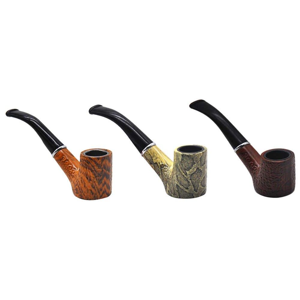COURNOT クラシック耐久性手作り木製ウッドたばこパイプ金属ボウル木製喫煙パイプたばこタバコ葉巻パイプホルダー