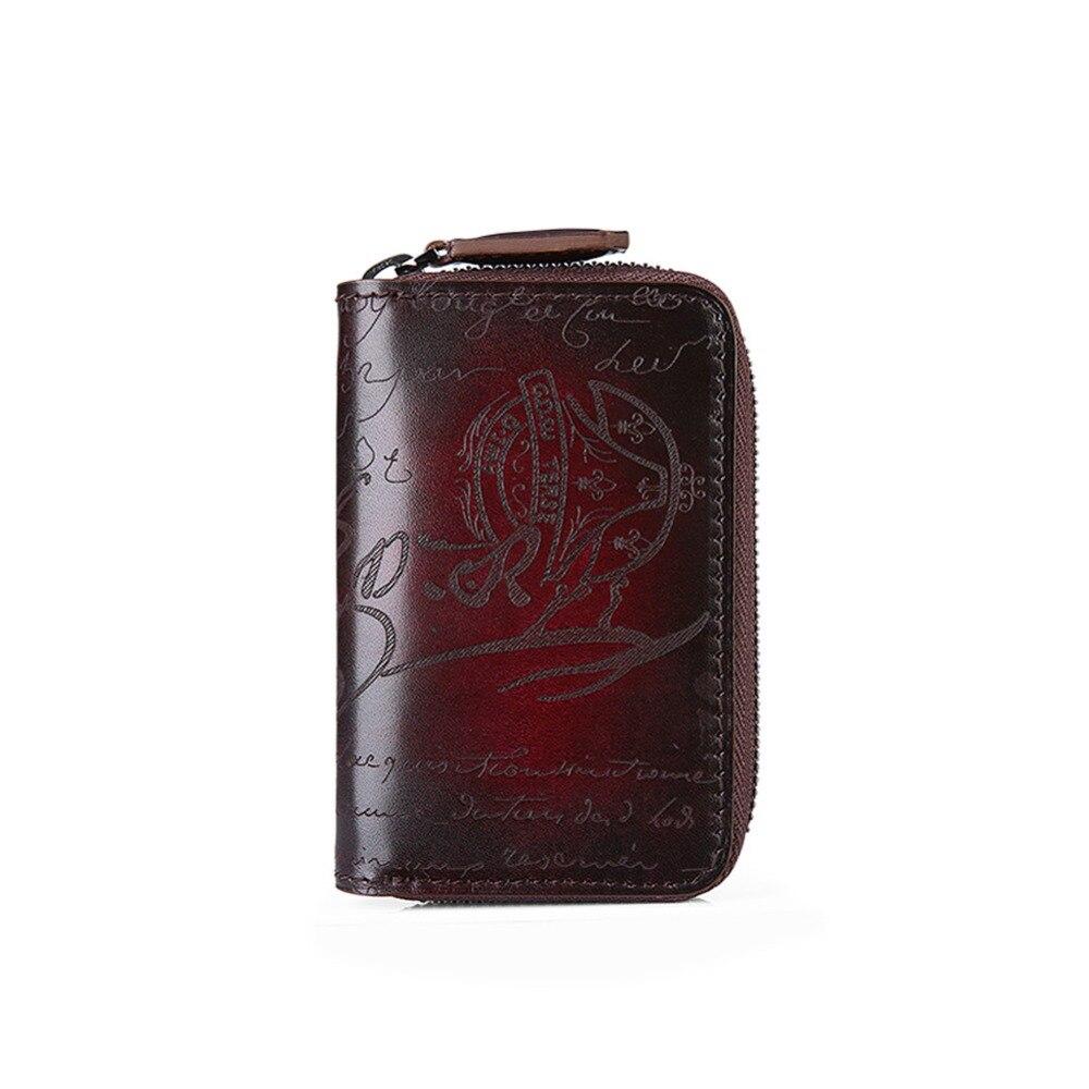TERSE Handmade leather keycase in 2 colors genuine leather key bag card holder bag custom service