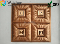 Embossed PVC Synthetic Leather 3D Living Room Wall Panels Top level newest leather 3d wall panel decorative panel
