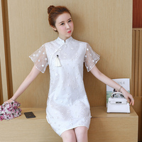 2019 traditional chinese clothing half sleeve cheongsam for women chinese wedding qipao womens lace vintage dresses