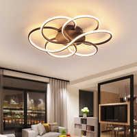 Luces de techo led de atenuación modernas, sala de estar minimalista para plafón, dormitorio, estudio, balcón, iluminación del hogar, AC85-260V