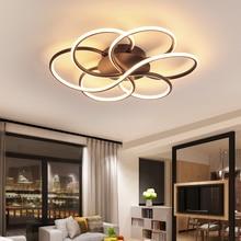 Затемняющие современные светодиодные потолочные светильники для гостиной, спальни, кабинета, балкона, минималистичные светодиодные плафоны, потолочный светильник для дома, освещение AC85-260V