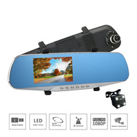 Full HD 1080P DVR Night Vision Durable Car Camera Dual Lens Car Camera Shockproof Rearview Mirror