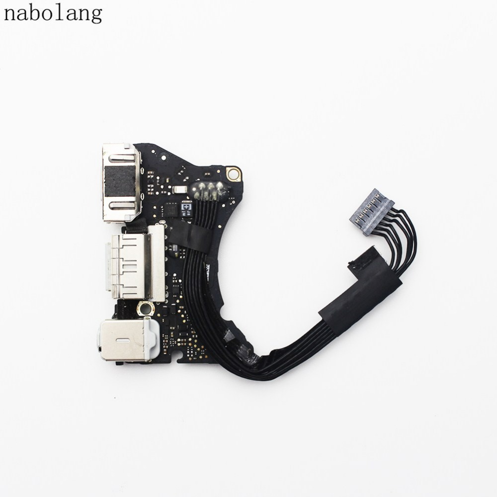 New Power DC Jack Audio Board cable Replacement parts For MacBook Air 11 A1465 2013 original new power port for macbook pro retina 13 15 a1706 a1707 a1708 power jack board 2016 2017 820 00484 02 replacement