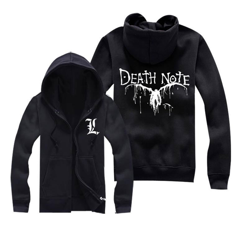 Death Note Hoodie Autumn Winter Men Jacket Coat Fashion Anime