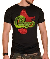 Fashion Funny Tops Tees Chicago T Shirt Logo Mens T Shirt Black Letter T Shirt Men