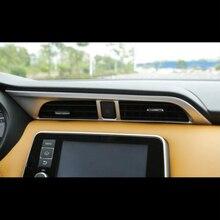 Автомобиль среднего воздуха на выходе украшения крышка отделка ABS пластик Chrome для Nissan пинает 2016 2017 2018 интимные аксессуары стайлинга автомобилей