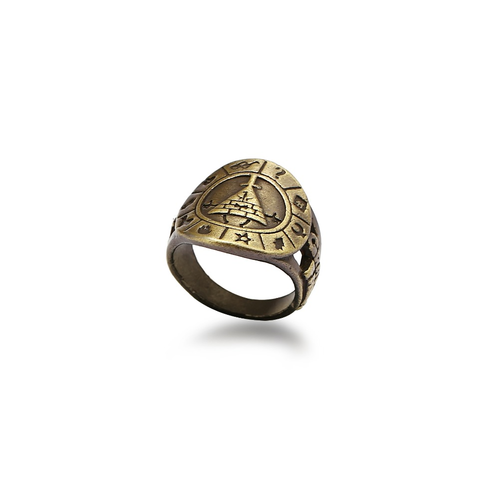 HSIC Anime Game Ring Gravity Falls RING Punk Rings For Men Vintage Jewelry Wholesale Souvenir Men Jewelry HC12459