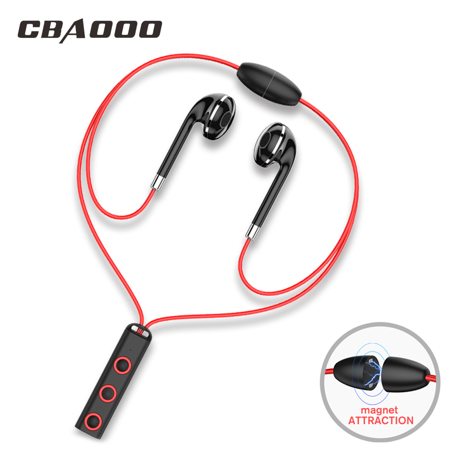 CBAOOO Bluetooth earphones in ear Wireless headsets Sport magnetic earpiece with microphone bluetooth earbuds for mobile phone top mini sport bluetooth earphone for asus zenfone 3 ze552kl earbuds headsets with microphone wireless earphones