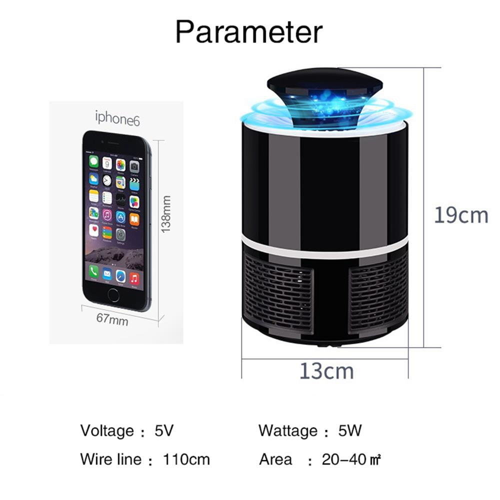 Anti mosquito led USB electric mosquito killer lamp UV night light anti fly mosquito zapper muggen killer insect trap for Living 1