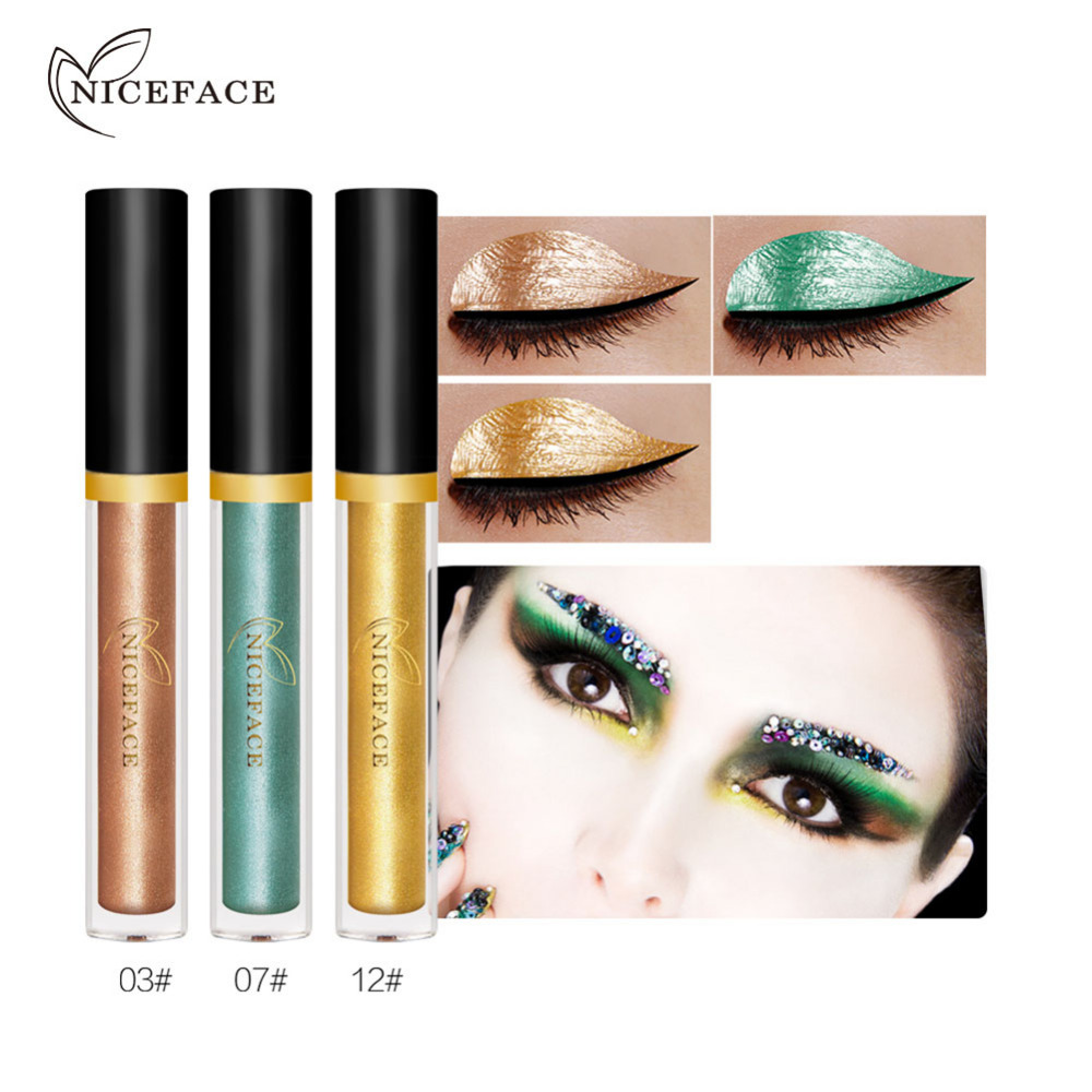 3pcsset metallic liquid eyeshadow waterproof glitter shimmer long lasting eyeshadow cosmetic makeup for halloween - Eyeshadow For Halloween