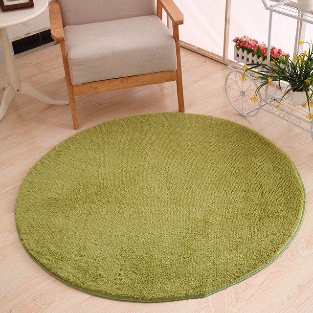 80x80 cm tapis de haute qualité plus épais tapis ronds vin rouge ...