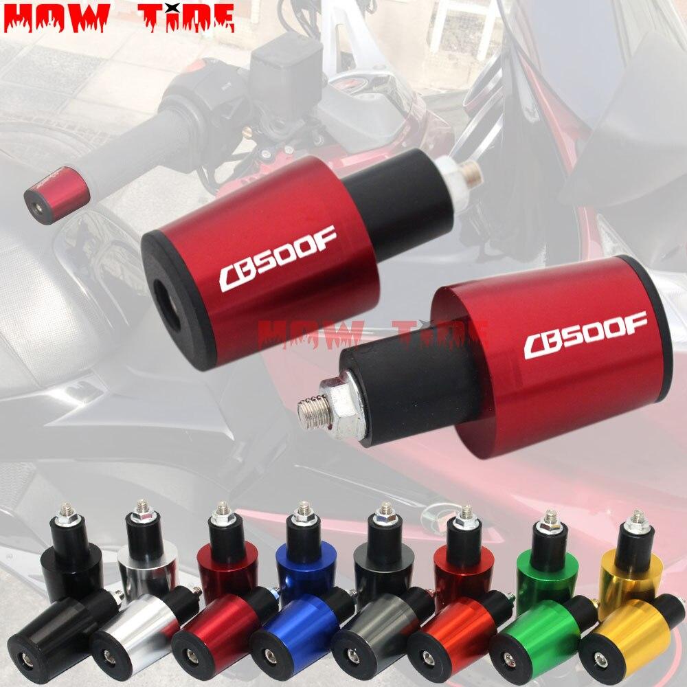 Motorcycle Accessories 7/8'' 22MM Handlebar Grips Handle Bar Cap End Plugs For Honda CB500F CB 500F 500F CBR 500F 2013-2015