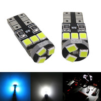 WLJH 12x Pure White Ice Blue 2835SMD Bulb Car Led Interior Lighting Package for Toyota Camry 2007~ 2011 with Sunroof