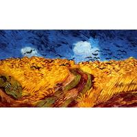 Wheatfield with Crows by Vincent Van Gogh Reproduction oil painting Canvas art Handmade High quality