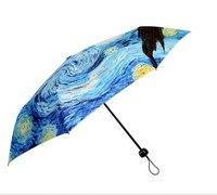 Van Gogh Oil Painting Anti Uv Umbrella Personalized Umbrella Automatic Umbrella Or Nonautomatic Umbrella