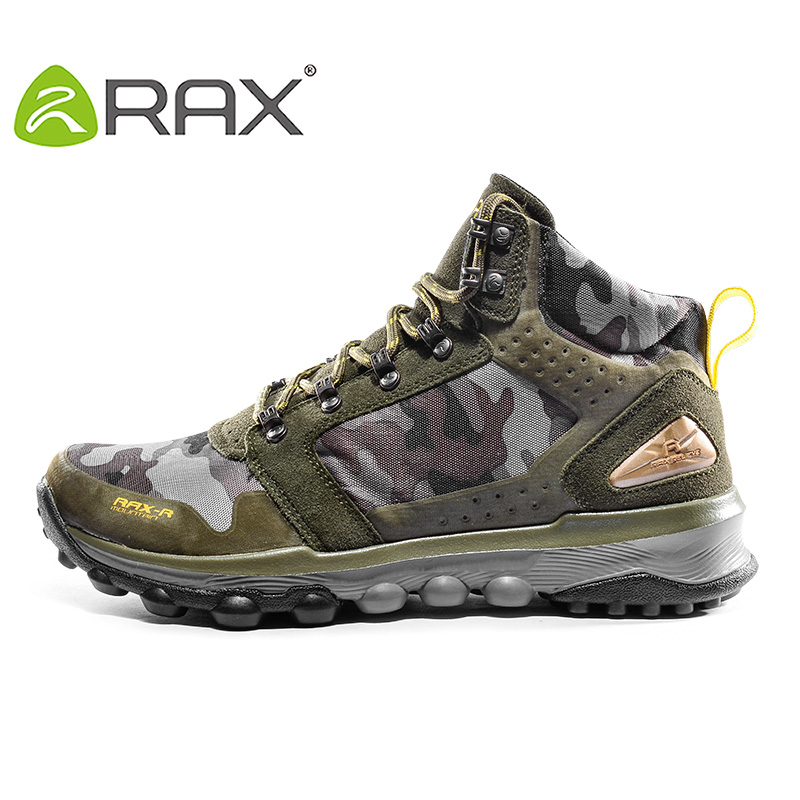 RAX Winter Warm Hiking Boots Outdoor Hiking Shoes Sports Shoes Men Boots Rubber Outsole Breathable Walking Sneakers Men Shoes