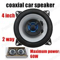 a pair 2 way auto door component speakers 4 inch 2x60W Car Styling car audio speakers Car Coaxial Speaker General