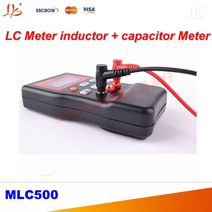 MLC500 High precision AutoRanging LC Meter inductor and capacitor Meter 1% accuracy 500KHz test Connect PC storing m39010 08 br22ks inductor mr li
