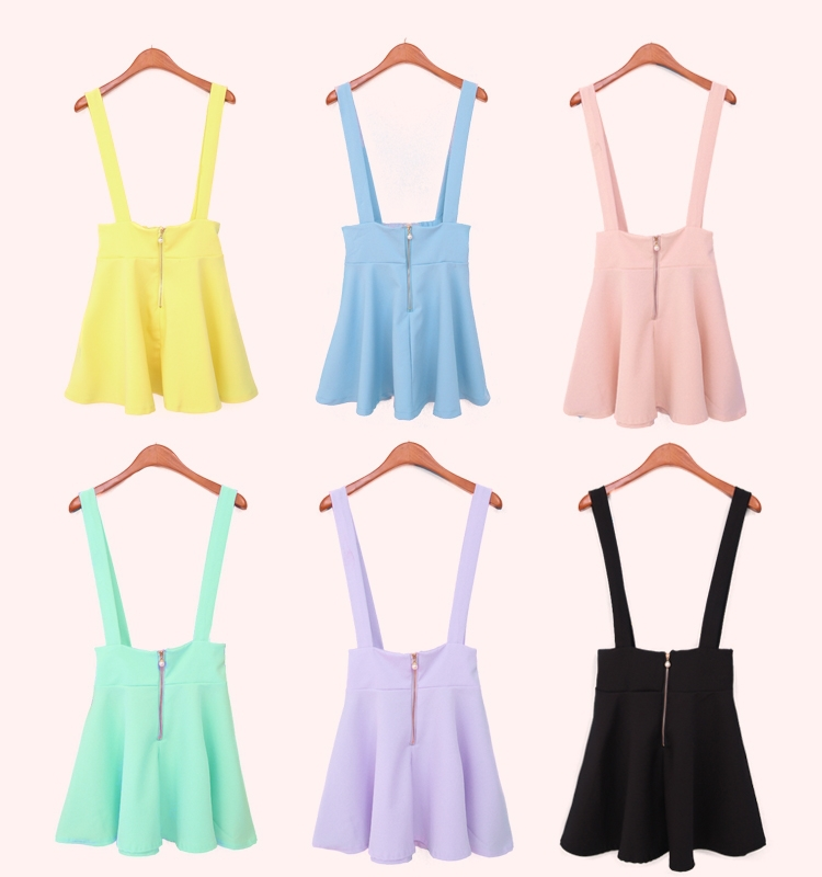 Aliexpress.com : Buy 2014 Summer Women Pastel Suspender Skirt Ice ...