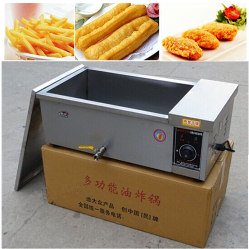 Multifunction 12 L deep fryer electric commercial stainless steel potato chicken food deep frying machine   ZF fast food leisure fast food equipment stainless steel gas fryer 3l spanish churro maker machine