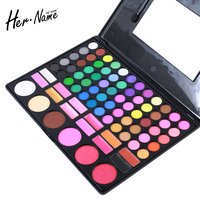 Hername 78 Pcs Eyeshadow Palette Shadows 60 Colors Eye Shadow 12 Colors Lipstick 3 Color Blush