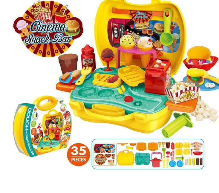 Children Kids Kitchen Pizza Party Fast Food Slices Cutting Pretend Play Food Toy Early Development Toys for Baby Kitchen Gift