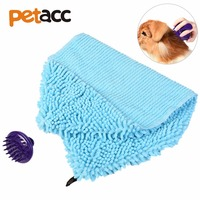 Petacc Dog Towel Fast Drying Pet Bath Cloth Absorbent Dog Washcloth Massage Brush Strong Absorption Perfect